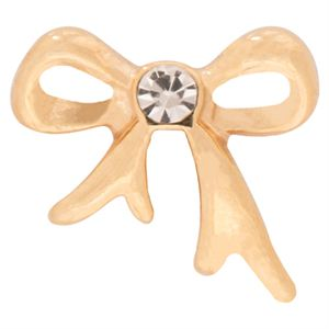 Picture of Gold Bow With Crystals Charm